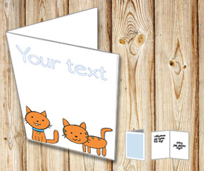 Card with cats  | Free printable card