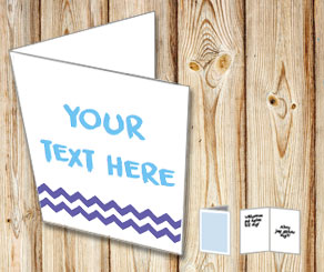 White card with purple chevron   | Free printable card