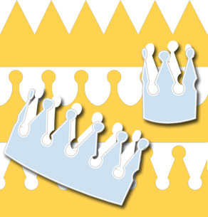 Yellow crown for kings and princesses  | Free printable party hat