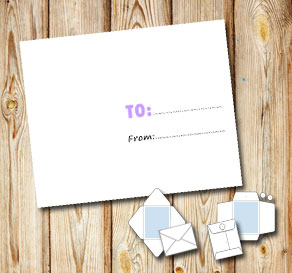 White envelope light purple to/from  | Free printable envelopes