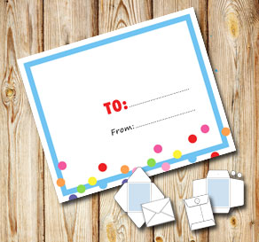 White envelope with a light blue frame and dots (to...  | Free printable envelopes