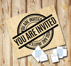 Envelope in old vintage paper: You are invited  | Free printable envelopes