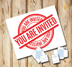 White envelope: You are invited (red)  | Free printable envelopes
