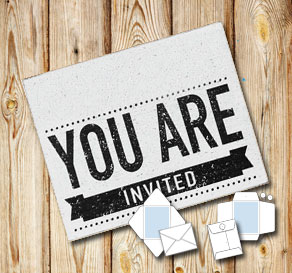 White envelope: You are invited sign  | Free printable envelopes