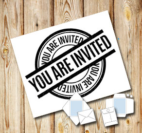 White envelope: You are invited (black)  | Free printable envelopes