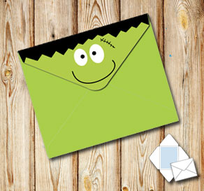 Envelope Frankensteins monster  | Free printable envelopes