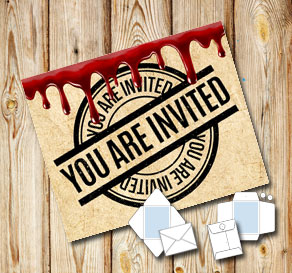 Envelope in old vintage paper with dripping blood: ...  | Free printable for Halloween