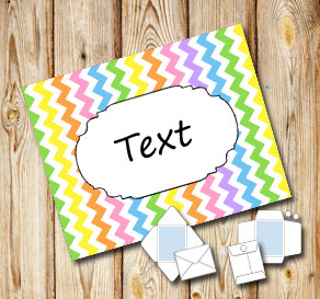 Light rainbow colored chevron pattern envelope with...  | Free printable envelopes
