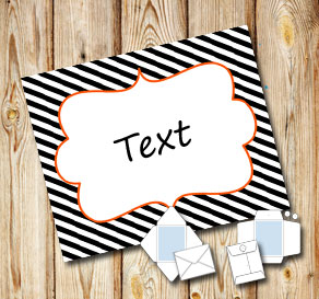 Black and white striped envelope for Halloween  | Free printable for Halloween