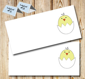 Placemet cards: Chicken  | Free printable for Easter