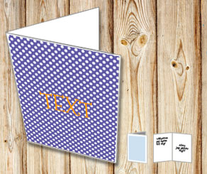 Purple card with white dots  | Free printable card