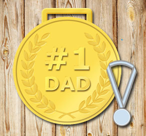 Gold medals: #1 Dad  | Free printable for Fathers day