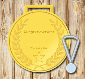 Gold medals: You are a star  | Free printable