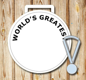 White medals: Worlds greatest  | Free printable