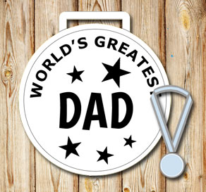 White medals: Worlds greatest dad  | Free printable for Fathers day