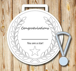 White medals: You are a star  | Free printable