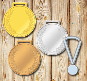 Gold, silver and bronze medals with laurels and edi...  | Free printable