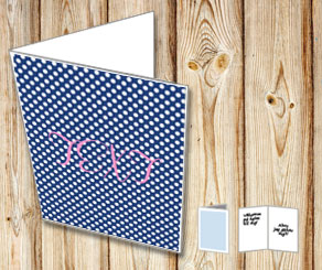 Dark blue card with white dots  | Free printable card