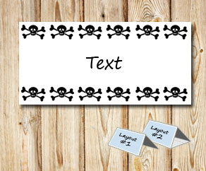 Placement cards with skulls  | Free printable placement cards