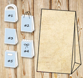 Gift bag in old aged paper  | Free printable gift bag