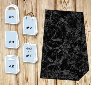 Black marble gift bag  | Free printable gift bag