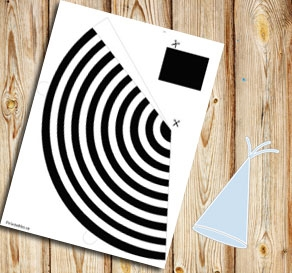 Black and white striped party hat  | Free printable party hat