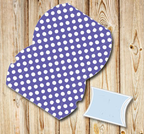 Purple pillow box with white dots  | Free printable gift box