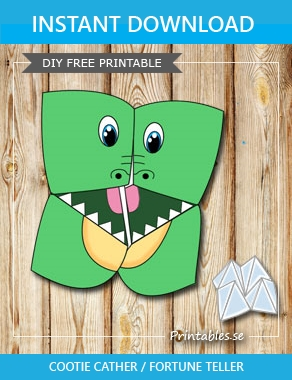 Shark Cootie Catcher - Origami for Kids - Easy Peasy and Fun | 380x292
