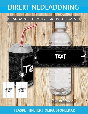 Marmorerade flasketiketter med dubbel ram drink at your own risk  | Gratis printables att skriva ut till Halloween