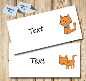 Placement card with cats  | Free printable placement cards