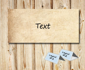 Placement card in old vintage paper  | Free printable placement cards