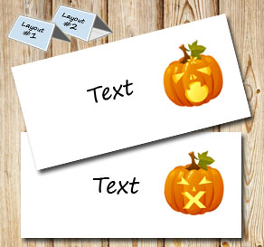 Placement cards with Halloween pumpkins 2  | Free printable for Halloween