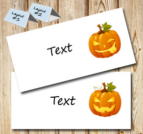 Placement cards with Halloween pumpkins 1  | Free printable for Halloween