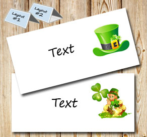 Placement cards for St Patricks day  | Free printable for St Patricks day