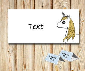 Placement card with a unicorn 7  | Free printable placement cards