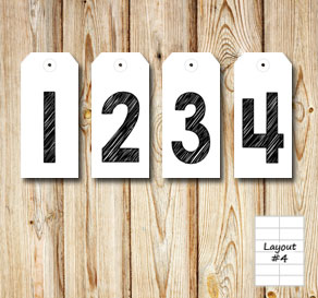 Gift labels with 1 2 3 4 in black for an advent cal...  | Free printable for Christmas
