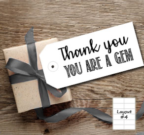 Gift tag with thank you you are a gem  | Free printable gift tag