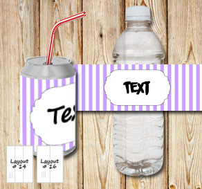 Light purple and white striped bottle labels with a...  | Free printable bottle wrapper