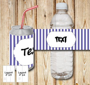 Purple and white striped bottle labels with a small...  | Free printable bottle wrapper