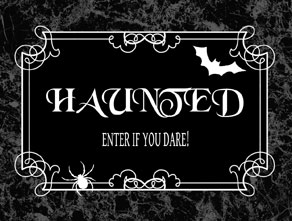 Door sign for the Halloween party  | Free printable for Halloween
