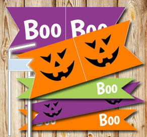 Straw decoractions for Halloween  | Free printable for Halloween
