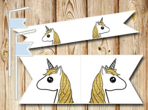 Straw decorations with unicorn 3  | Free printable straw decorations
