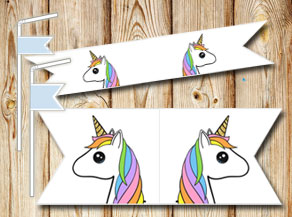 Straw decorations with unicorn 4  | Free printable straw decorations