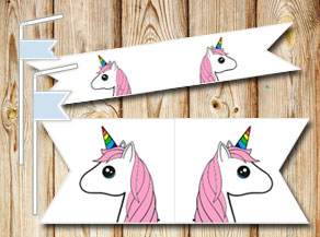 Straw decorations with unicorn 2  | Free printable straw decorations