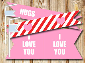 Straw Decorations for Valentine's day  | Free printable for Valentines day