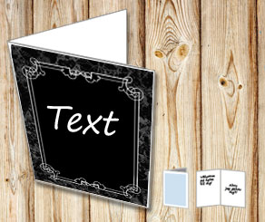 Card with marble background and white frame  | Free printable card
