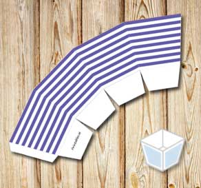 Purple and white striped treat box  | Free printable treat box