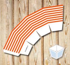 Orange and white striped treat box  | Free printable treat box