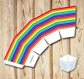 Rainbow colored treat box  | Free printable treat box