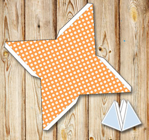 Light orange pyramid gift boxes with white dots  | Free printable gift box